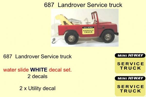 687  Tri-ang Landrover Service truck